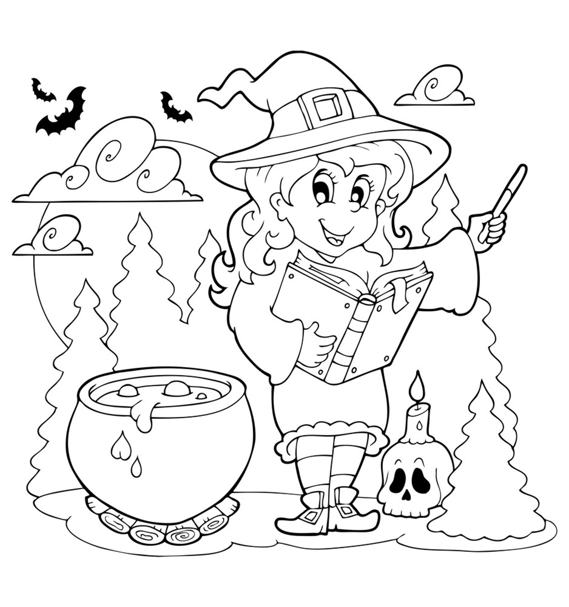 Kumpulan Sketsa Download Halloween Coloring terpopuler