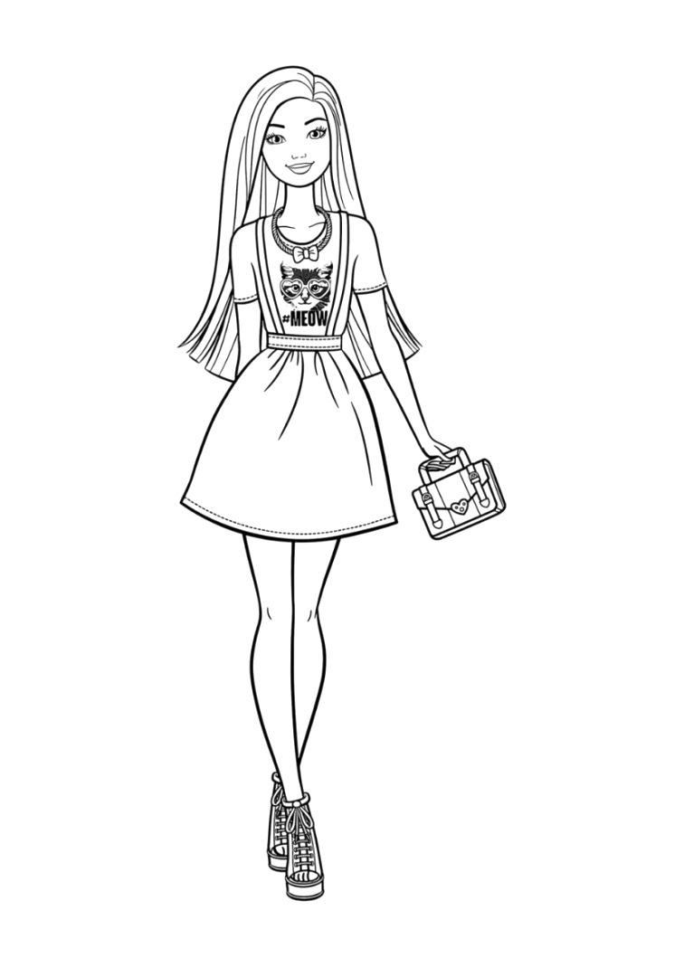 creative barbie coloring pages to color download