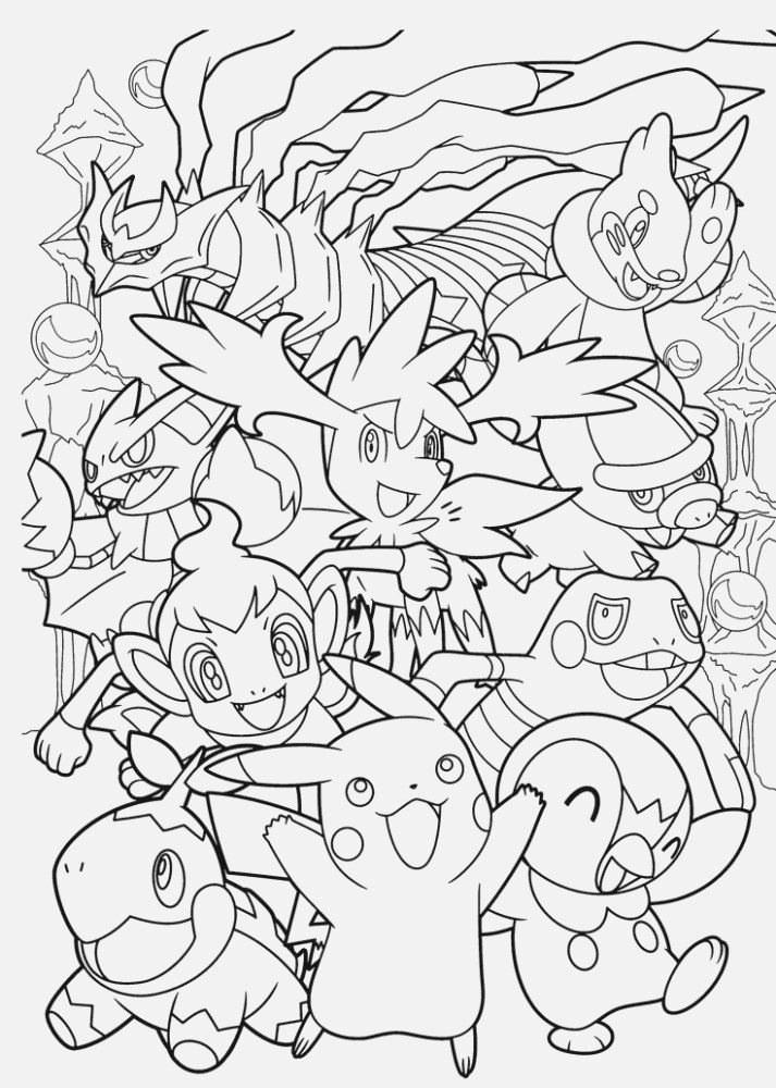 easily pokemon coloring pages for kids