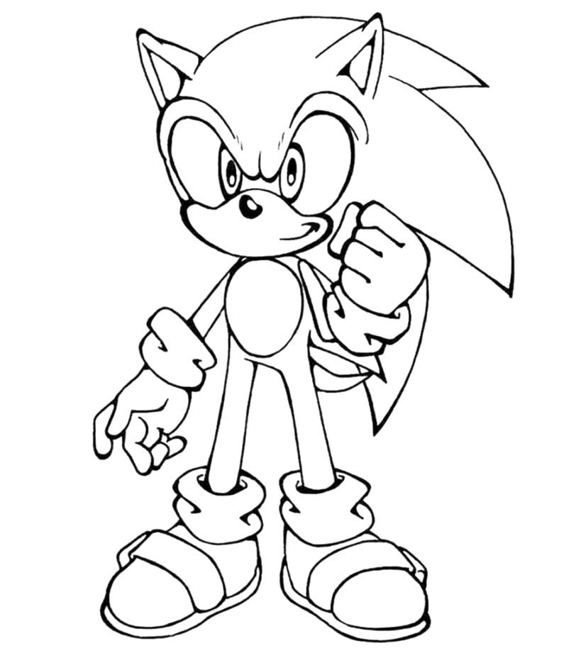 simple sonic the hedgehog coloring pages coloring pages