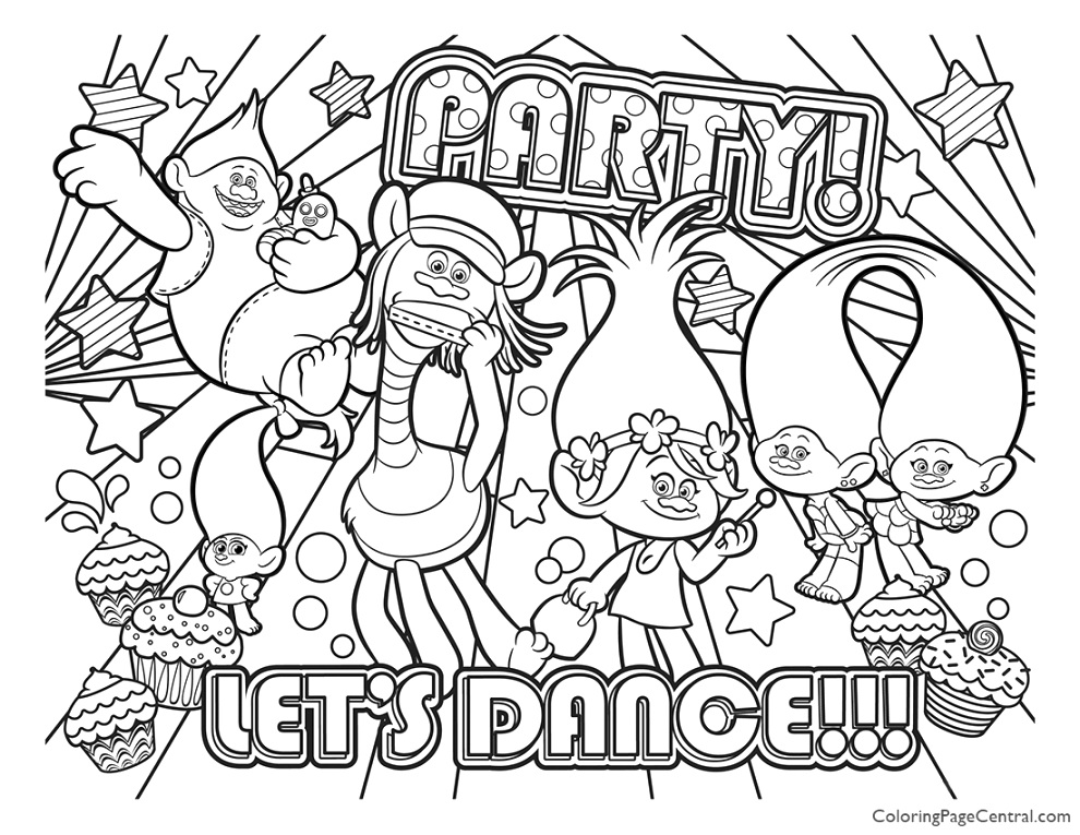 creative trolls coloring pages coloring technique