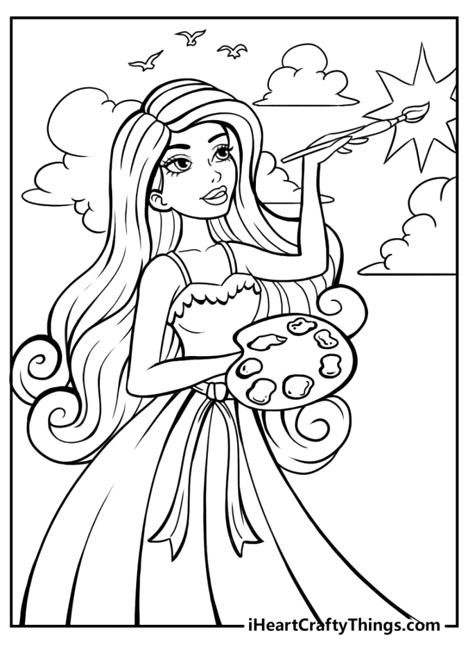 The best barbie coloring pages to color free