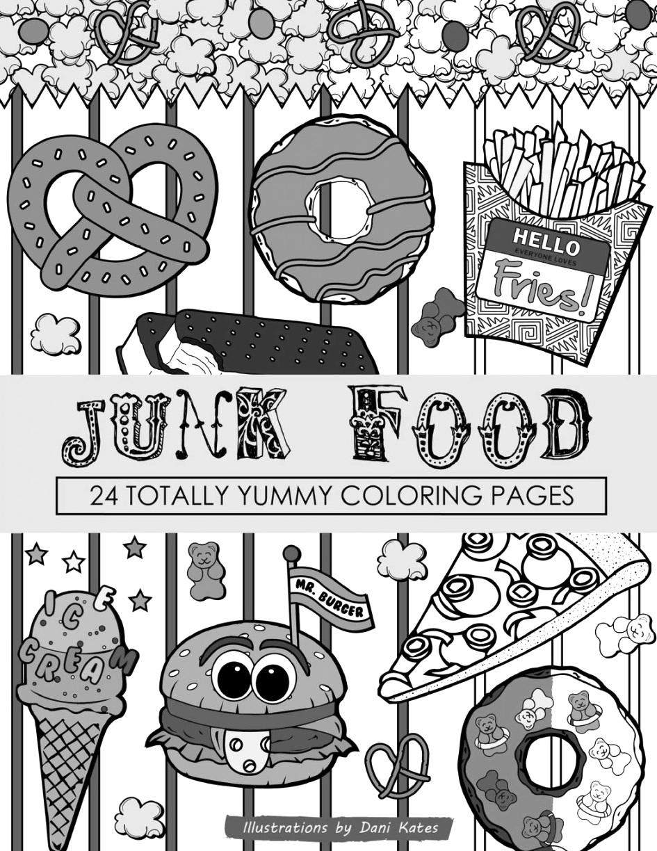 Discover Free food coloring pages for children and adults
