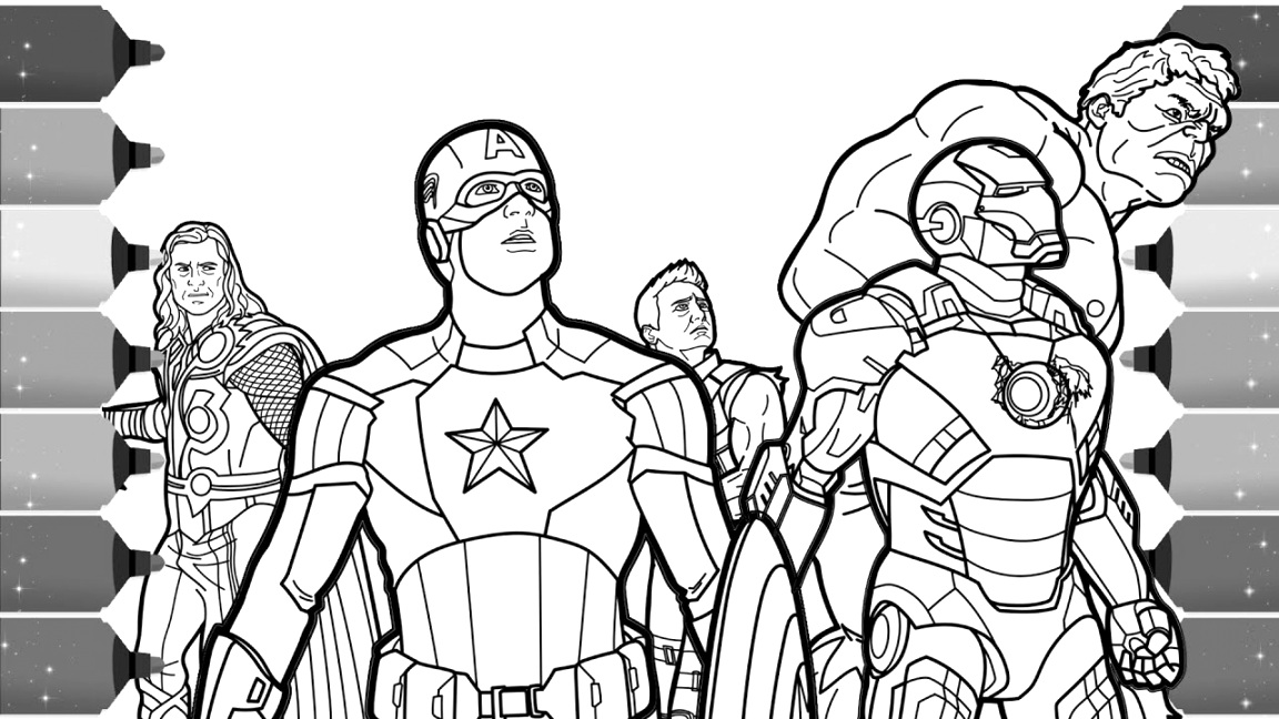 new marvel coloring pages collection