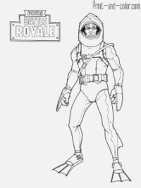 printable fortnite coloring pages to color free