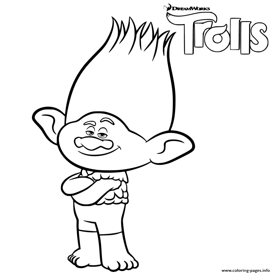 Discover Free trolls coloring pages coloring book