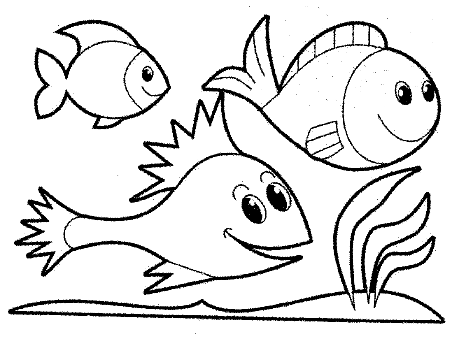 printable fish coloring pages free pdf