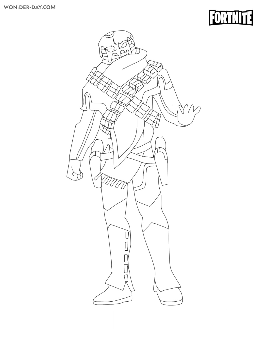 new fortnite coloring pages to color up
