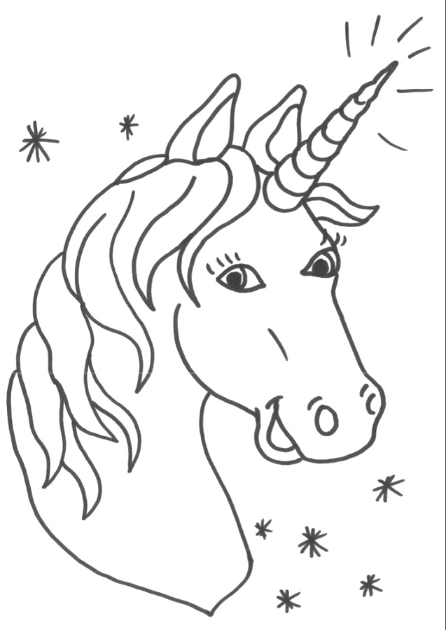 Enjoyable unicorn coloring pages be more creative