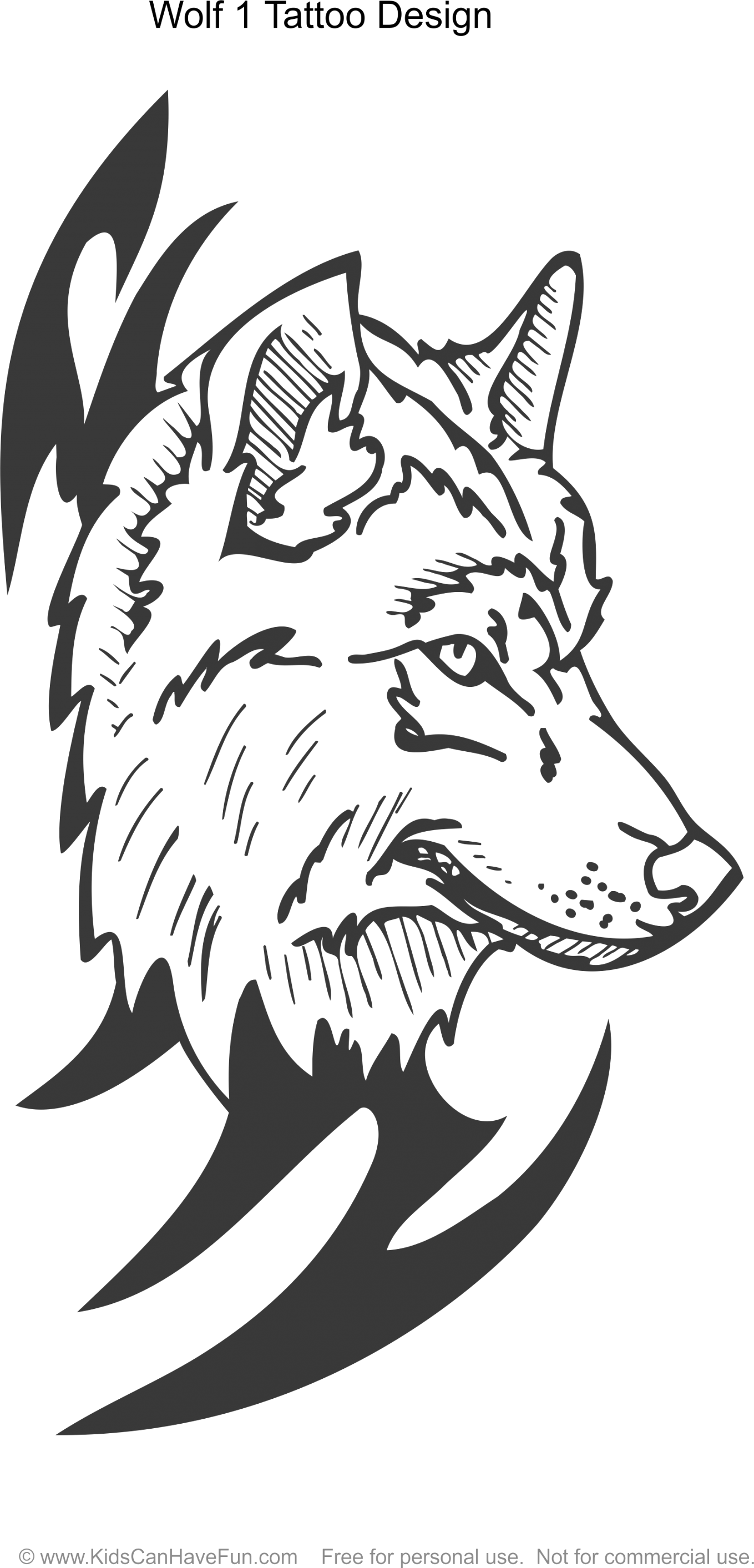 Make your wolf coloring pages for kids