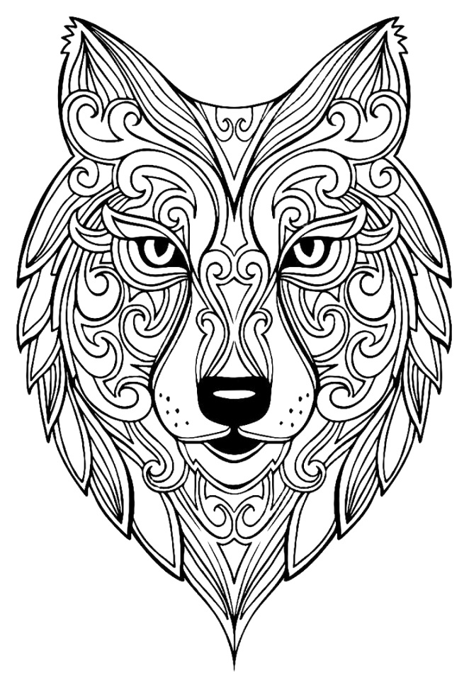 Remarkable wolf coloring pages coloring book