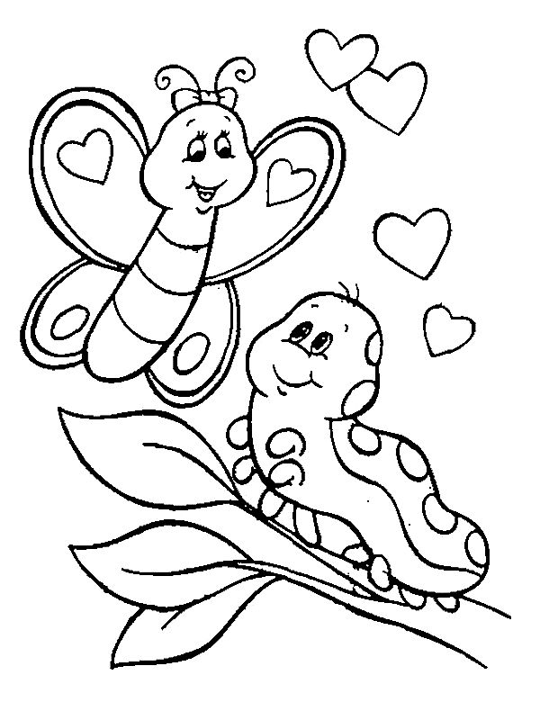 butterfly coloring page download