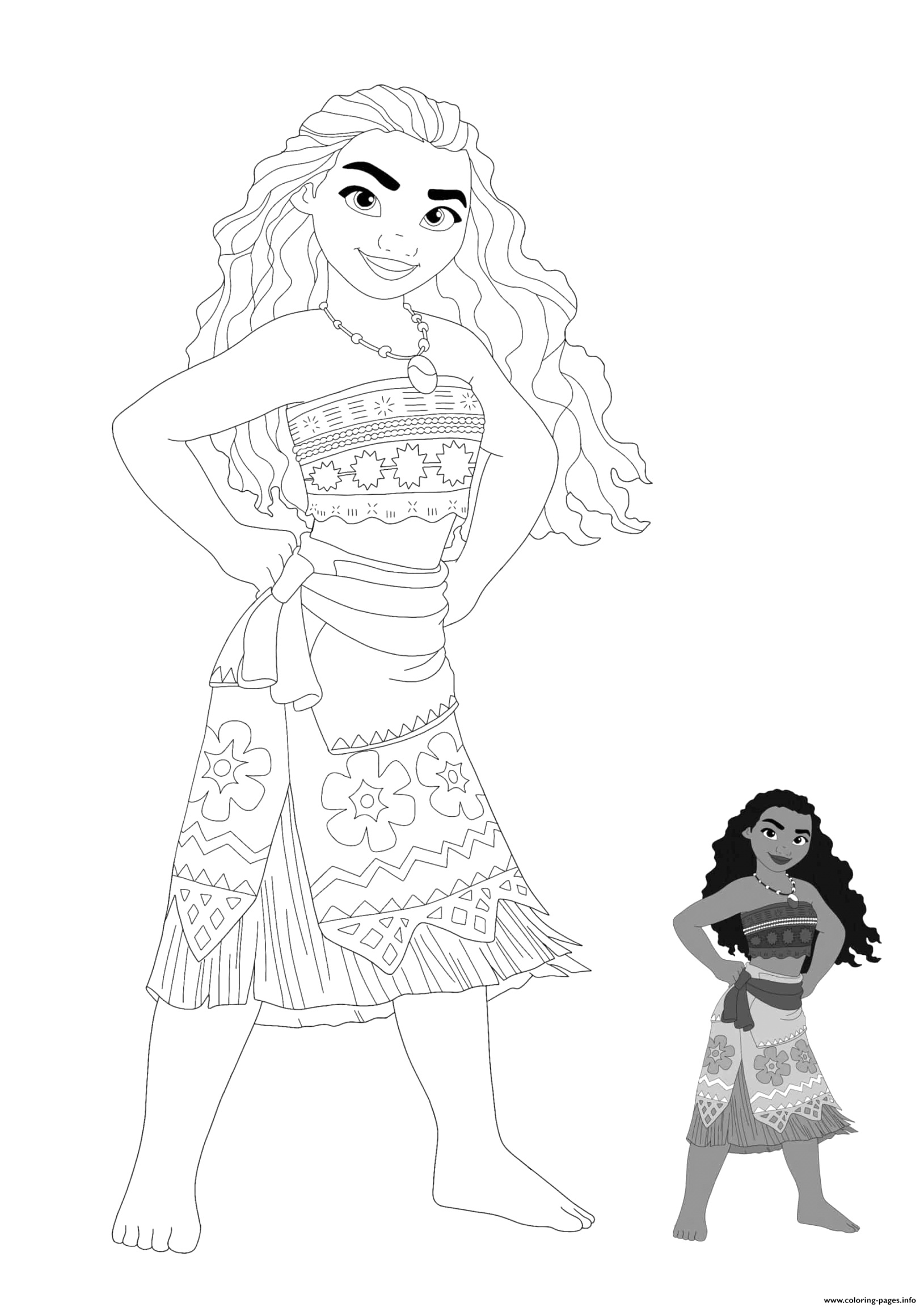 printable moana coloring pages ideas
