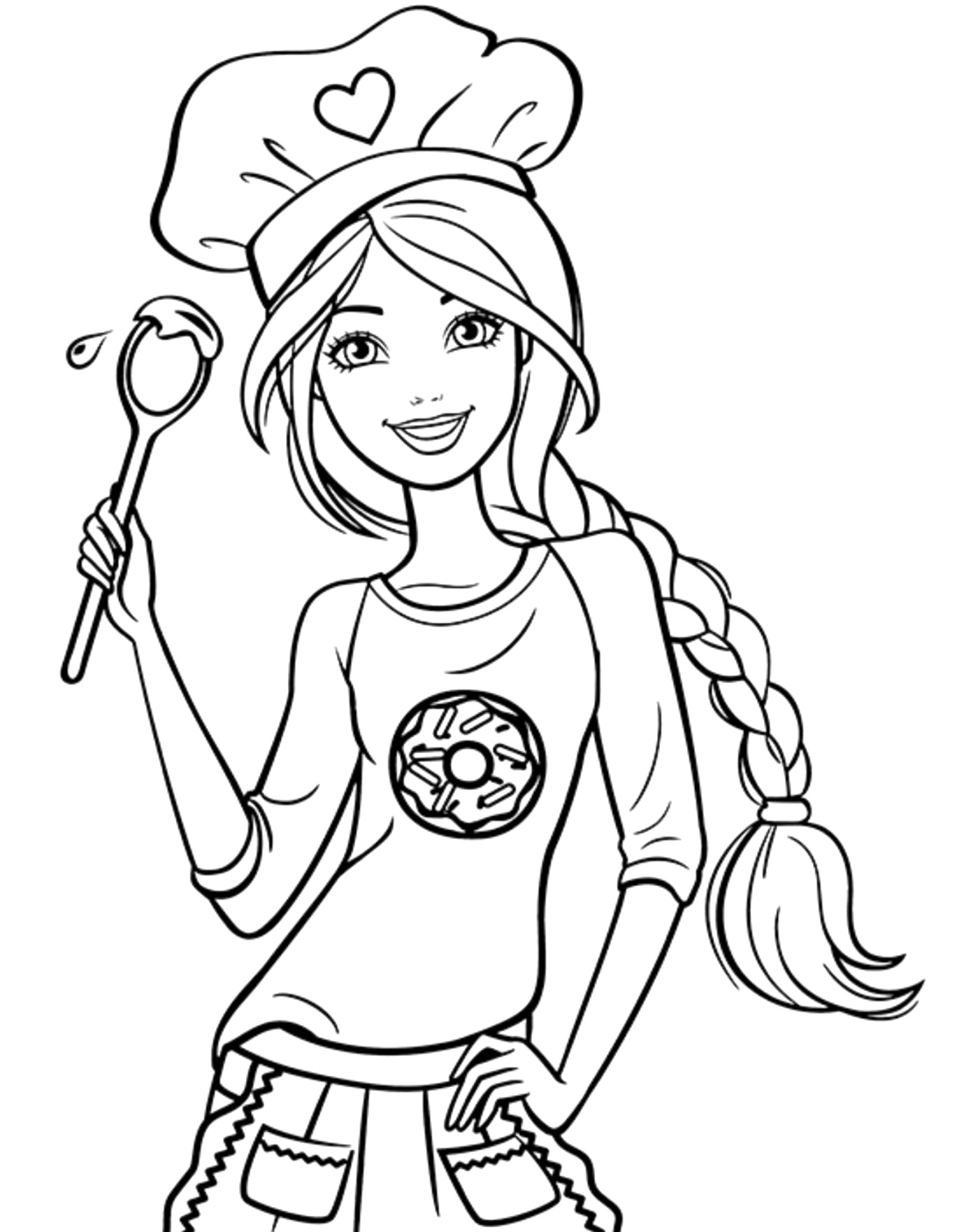 easy barbie coloring pages colour and print