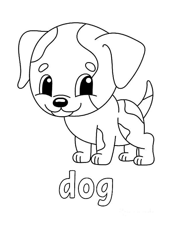 cute coloring pages dogs