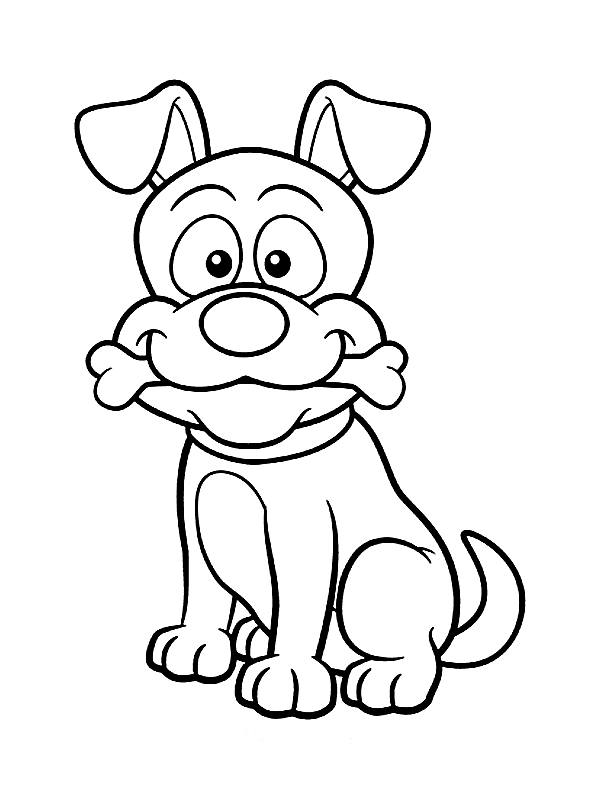 cute coloring pictures of dogs