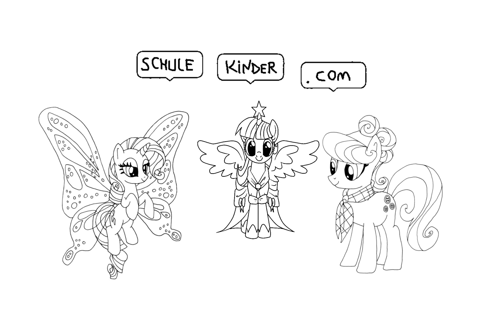 printable my little pony coloring pages pictures