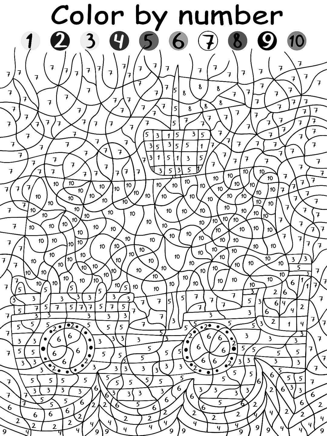 free downloadable color by number printable to print