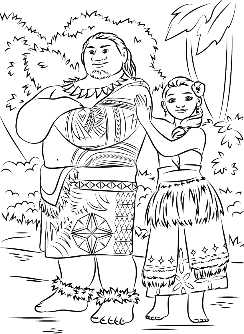 new moana coloring pages Inspirations