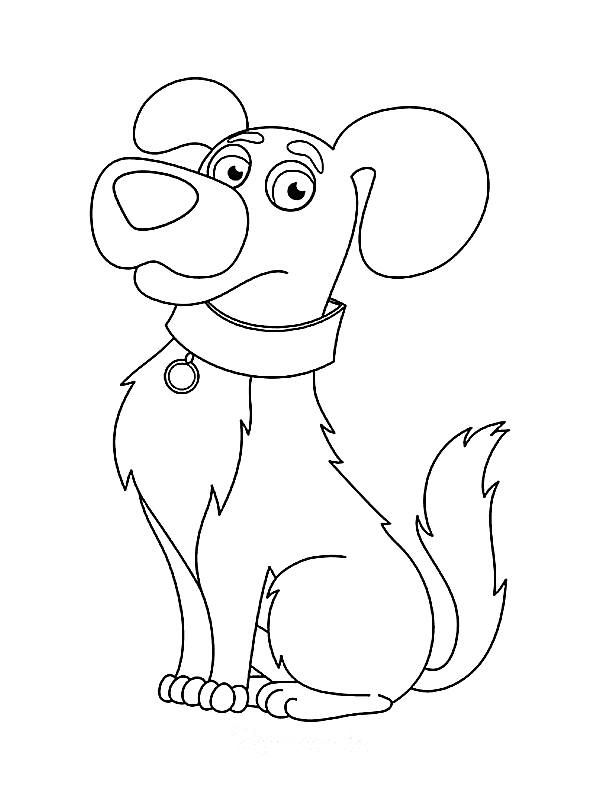 dog coloring pages simple