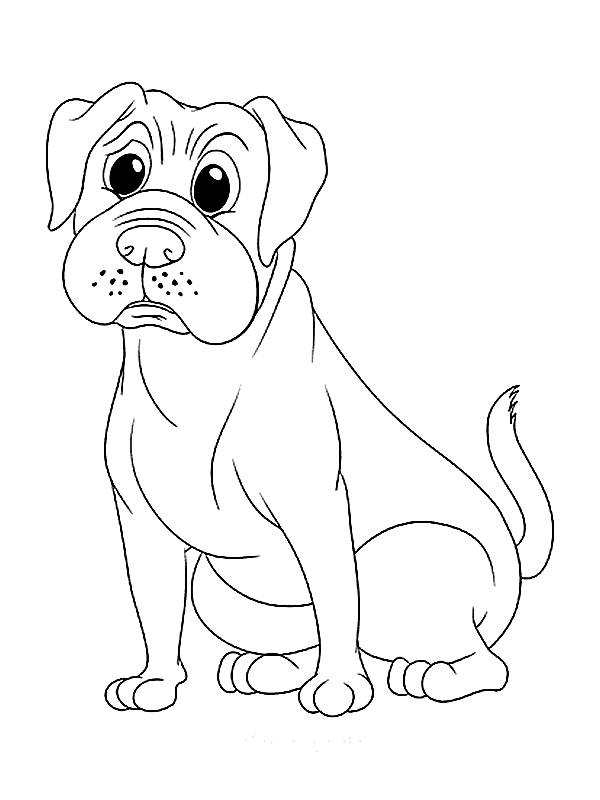 dog to coloring pages