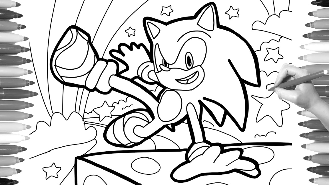 cool sonic the hedgehog coloring pages printable pdf