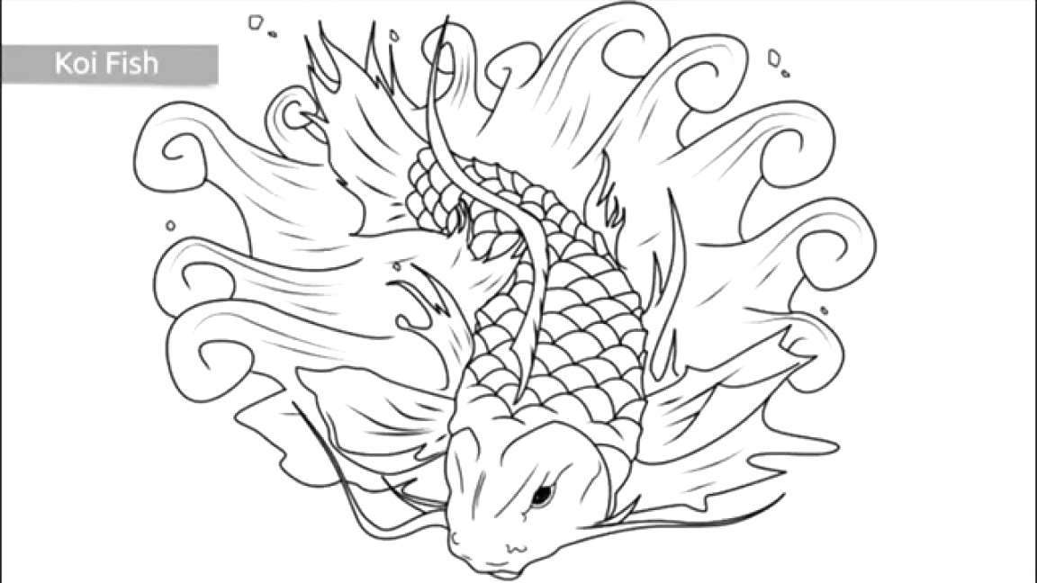 new fish coloring pages Printable Coloring Page