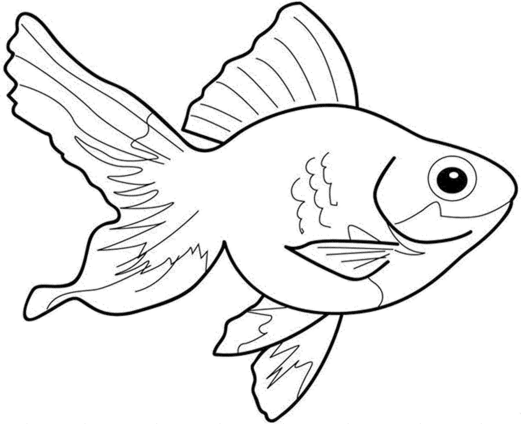 Enjoyable fish coloring pages that helps maintain focus