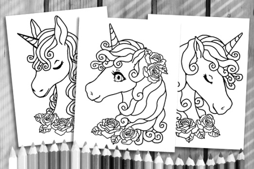online unicorn coloring pages to color up