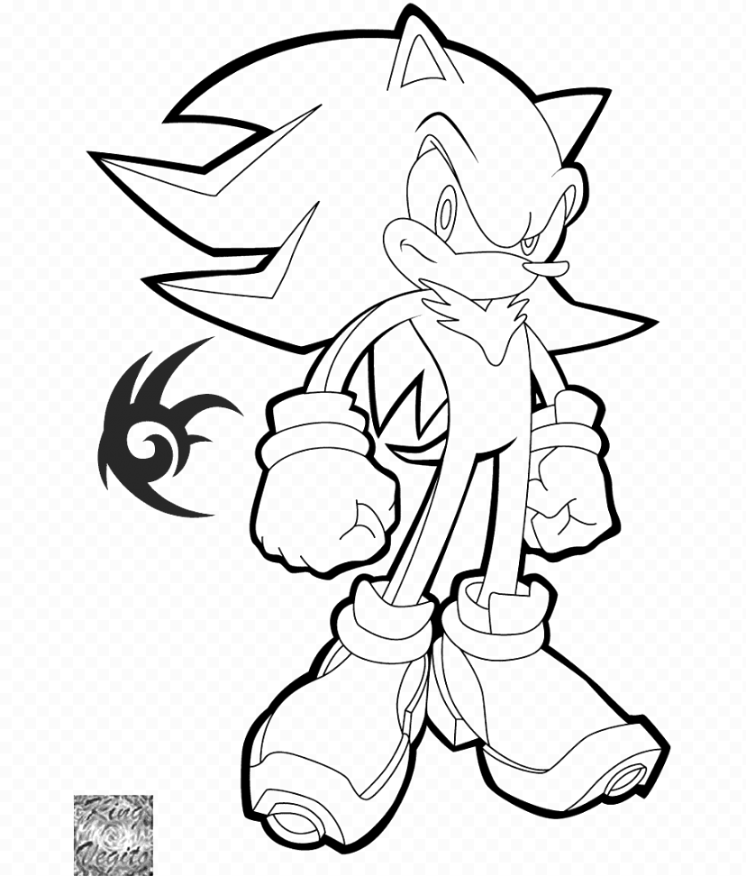 cute sonic the hedgehog coloring pages Inspirations