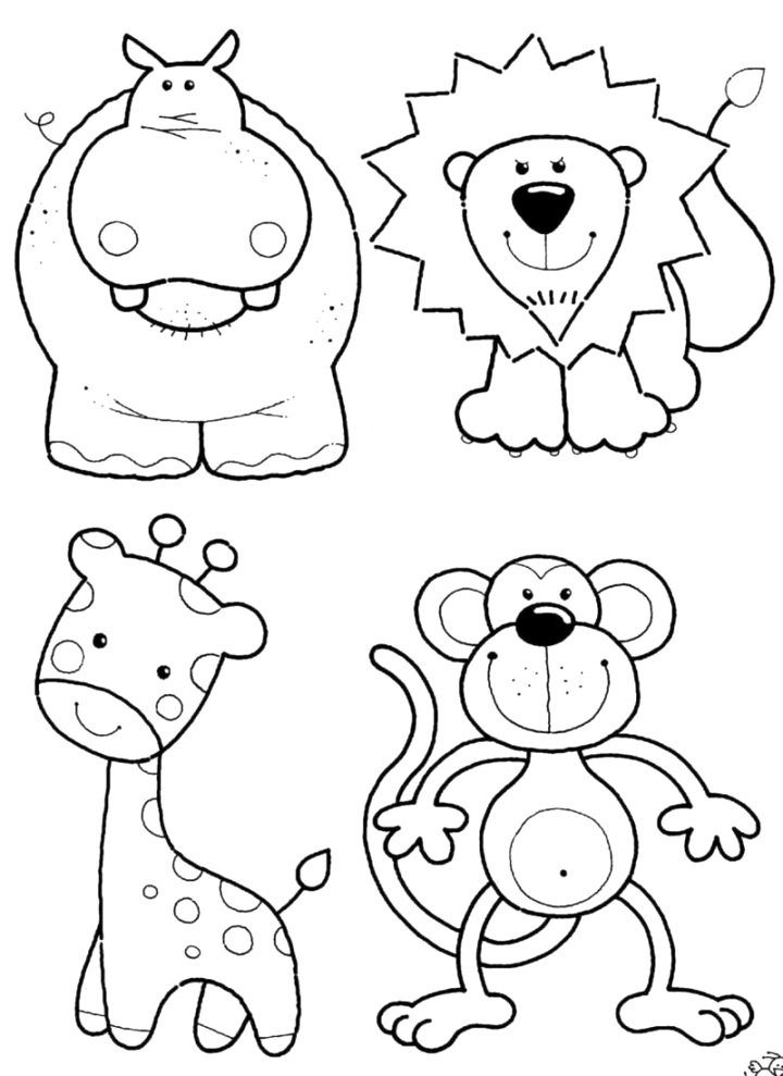 beautiful animal coloring pages pictures