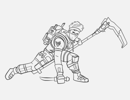 creative fortnite coloring pages Printable Coloring Page