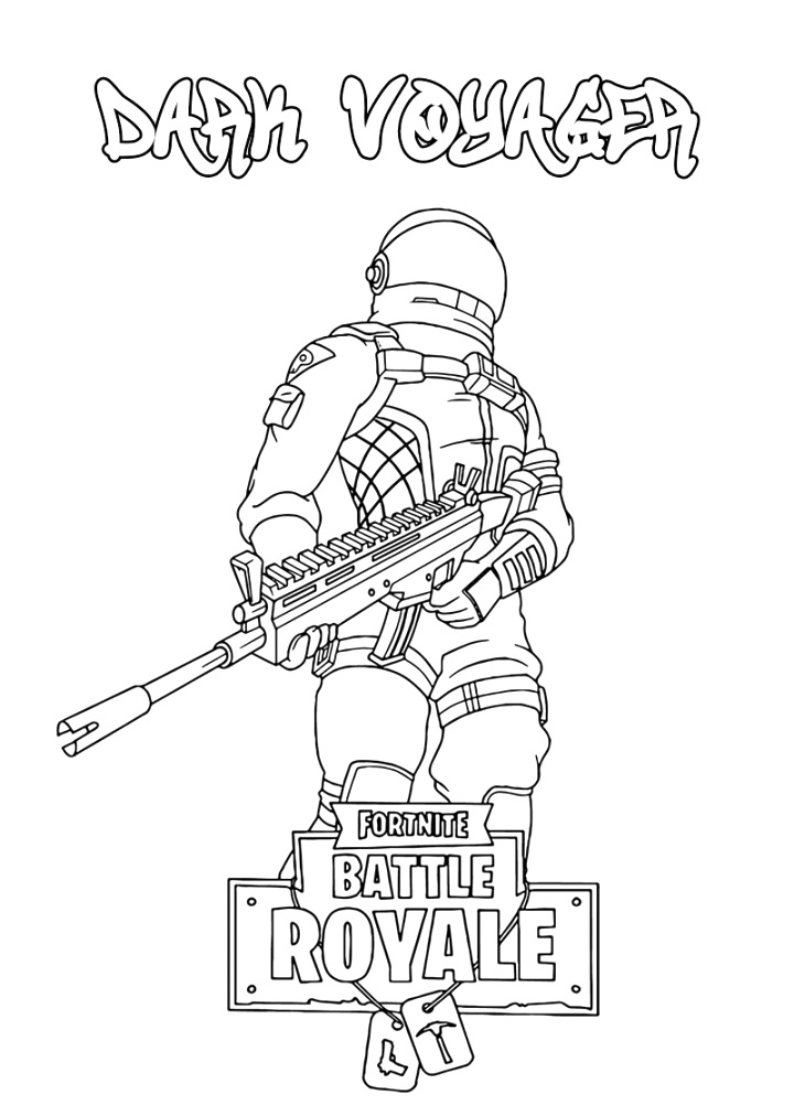 easily fortnite coloring pages colour and print