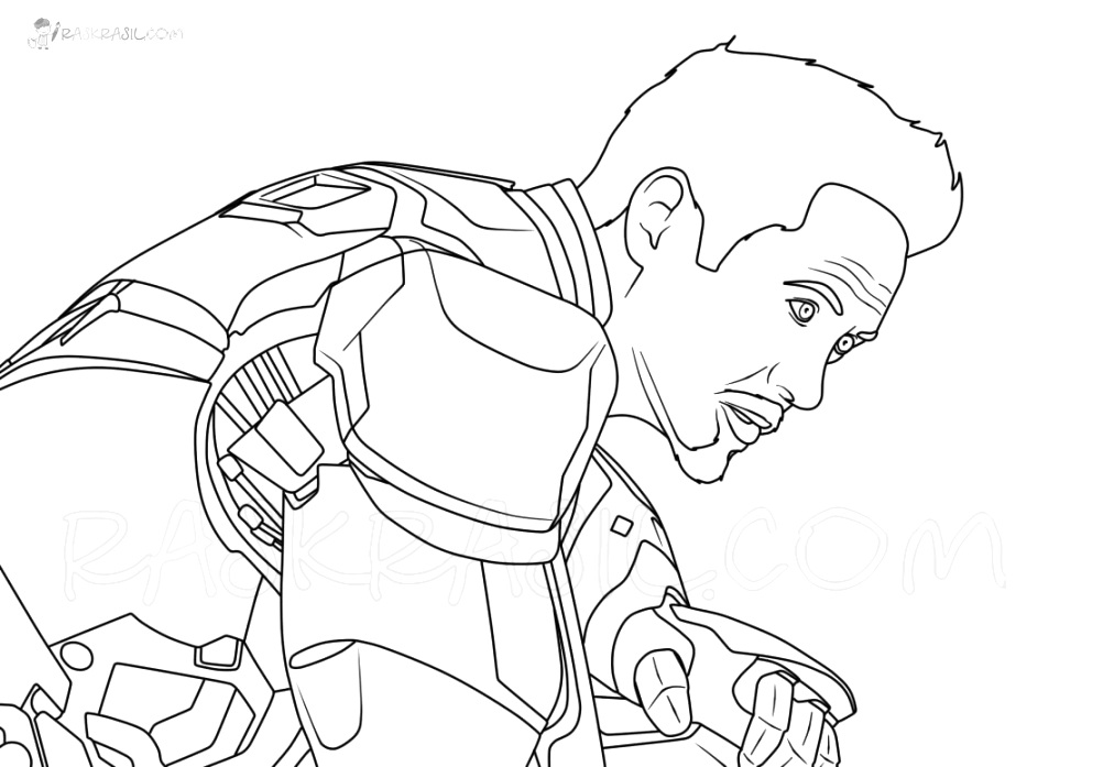 incredible iron man coloring pages pictures