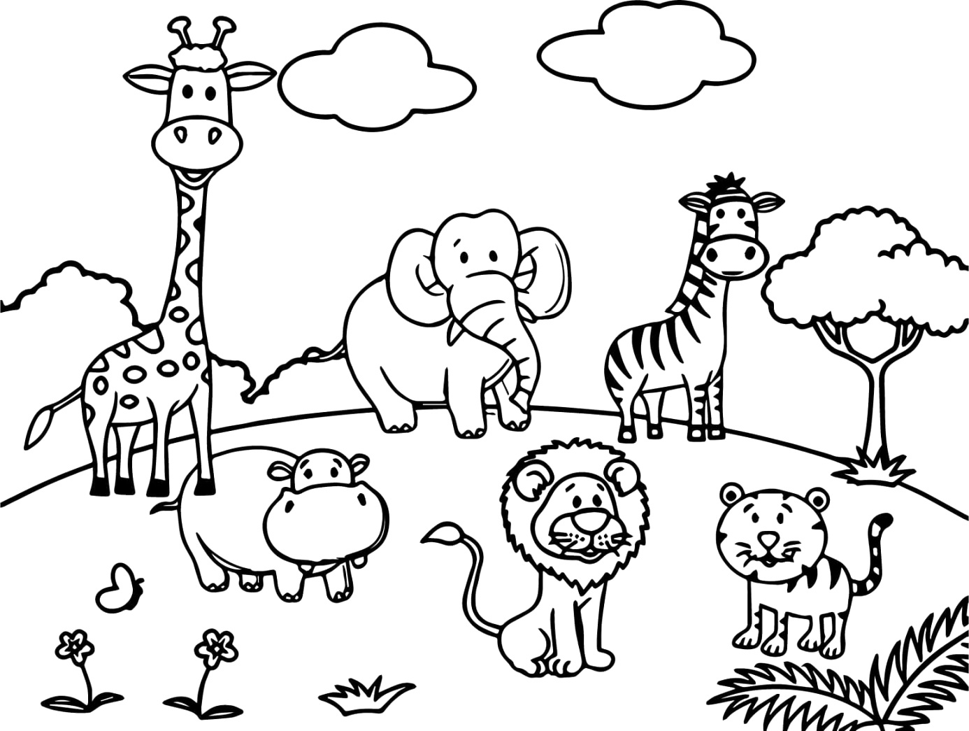 free downloadable animal coloring pages cool coloring sheet