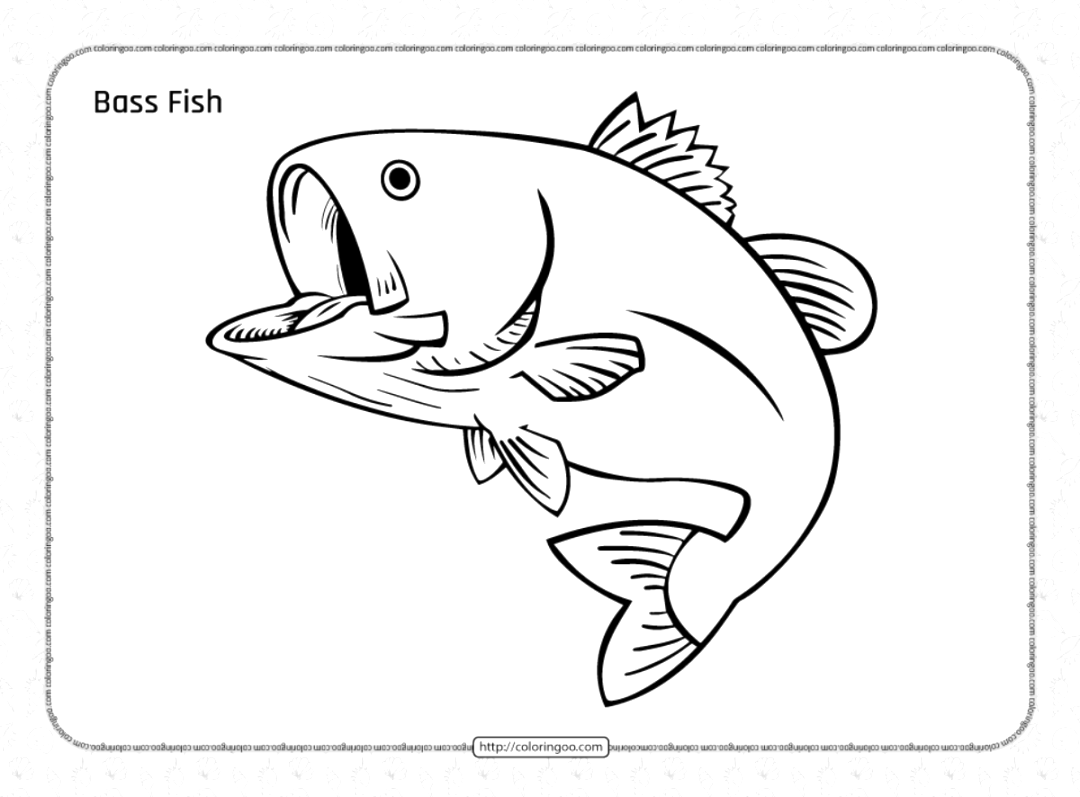 easy fish coloring pages to print