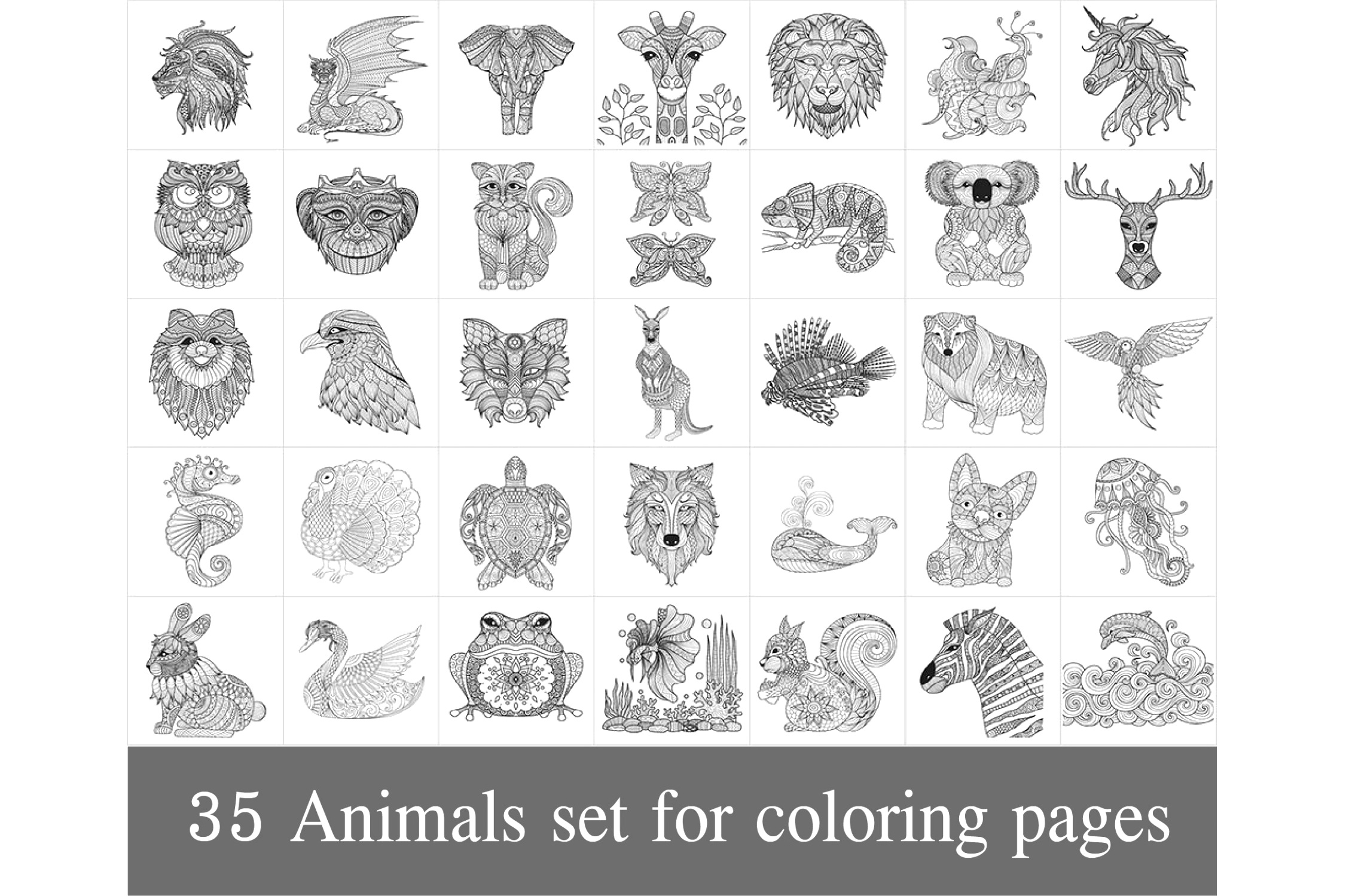 amazing animal coloring pages to color your life
