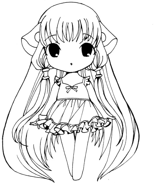 cute anime coloring pages free pdf