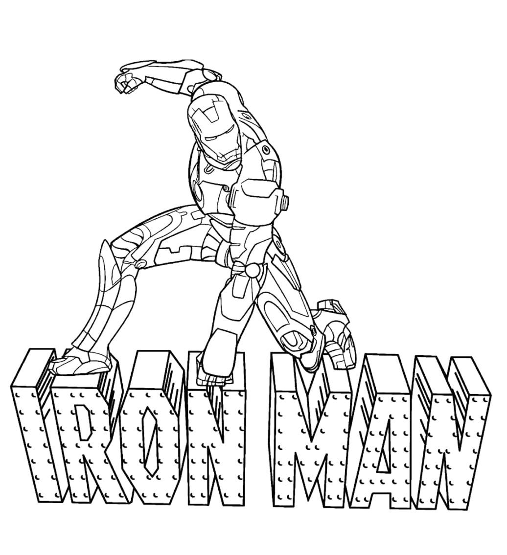 benefits of iron man coloring pages print for free