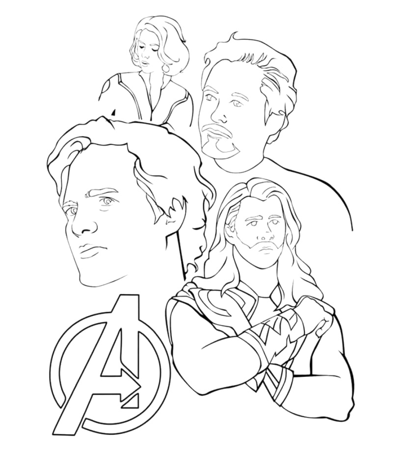 Free online marvel coloring pages that helps maintain focus