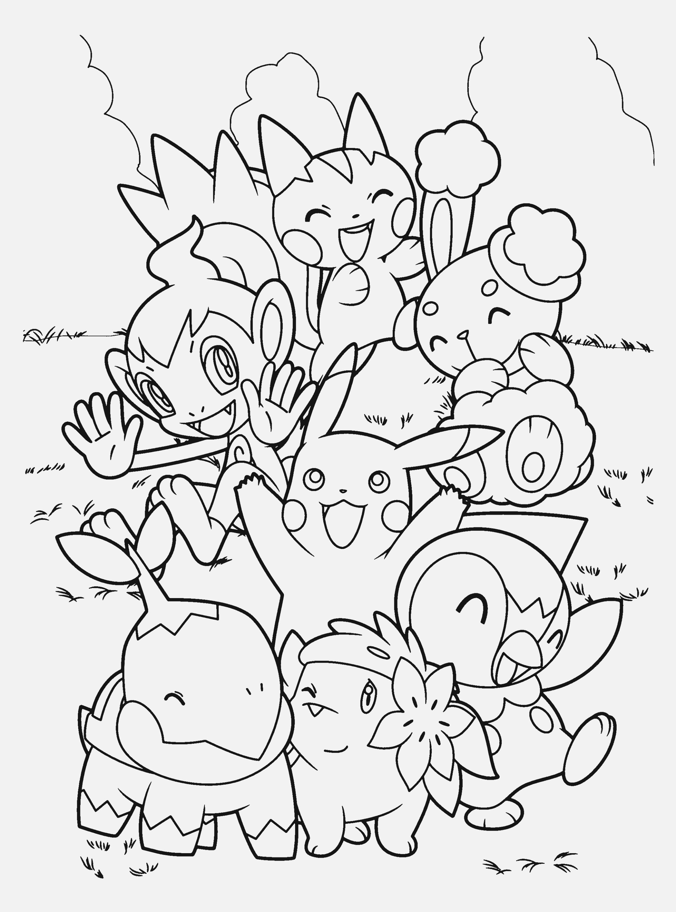 cool pokemon coloring pages to color free
