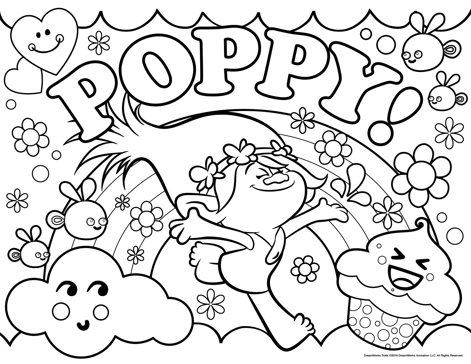 creative trolls coloring pages cool coloring sheet