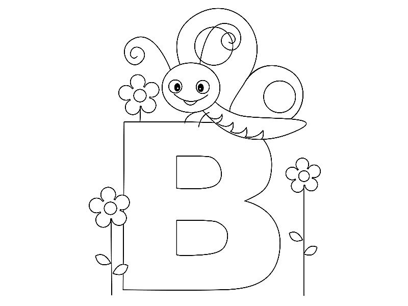 fun alphabet coloring pages