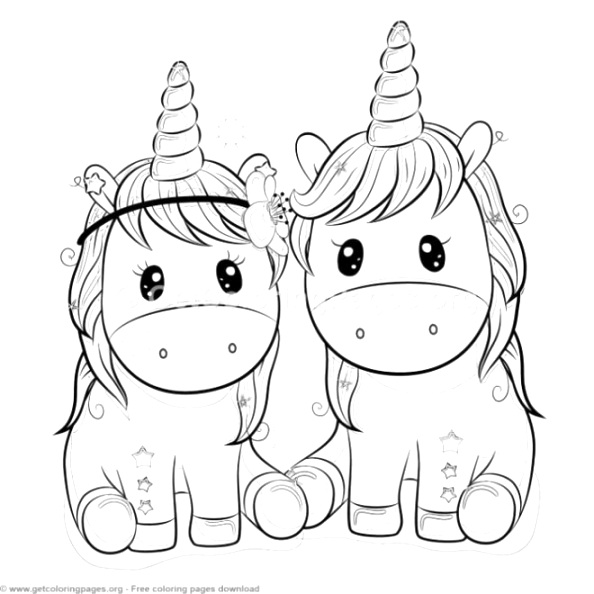 cute unicorn coloring pages to color download