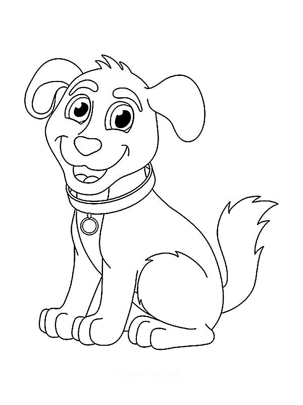 funny dog coloring pages
