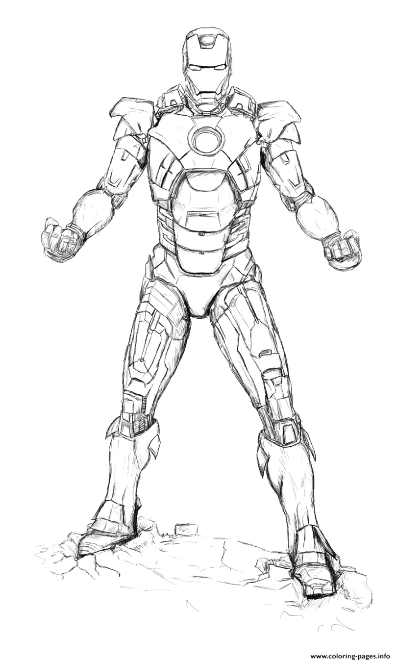 best iron man coloring pages to download