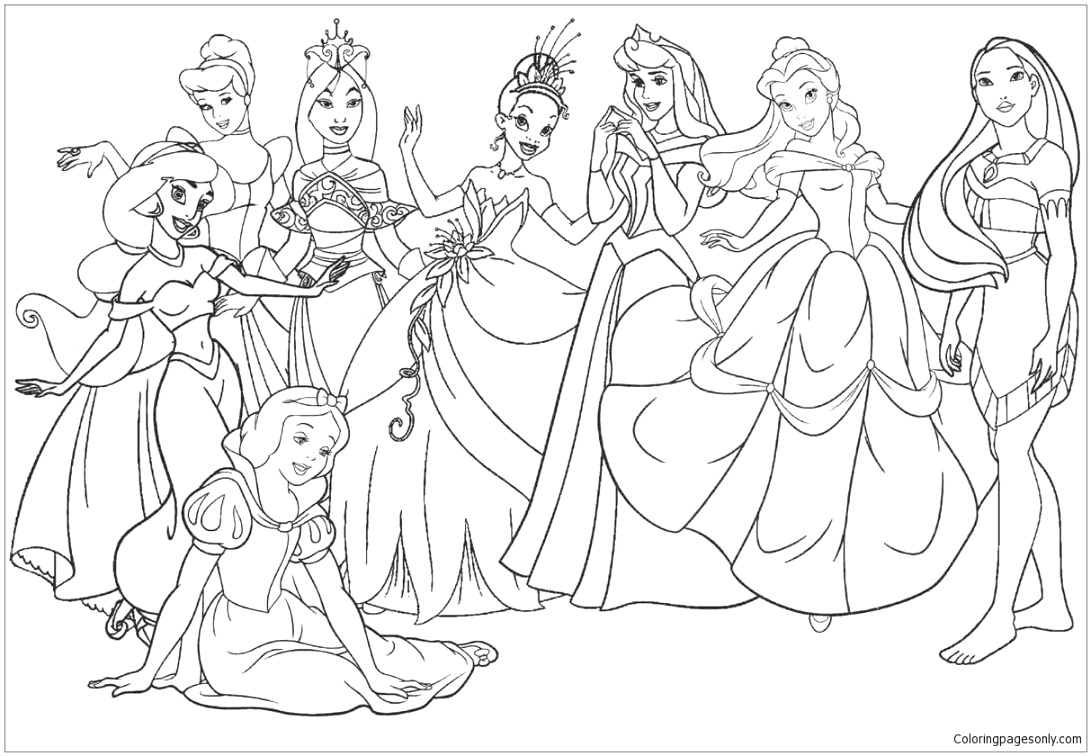 cute disney coloring pages for children and adults