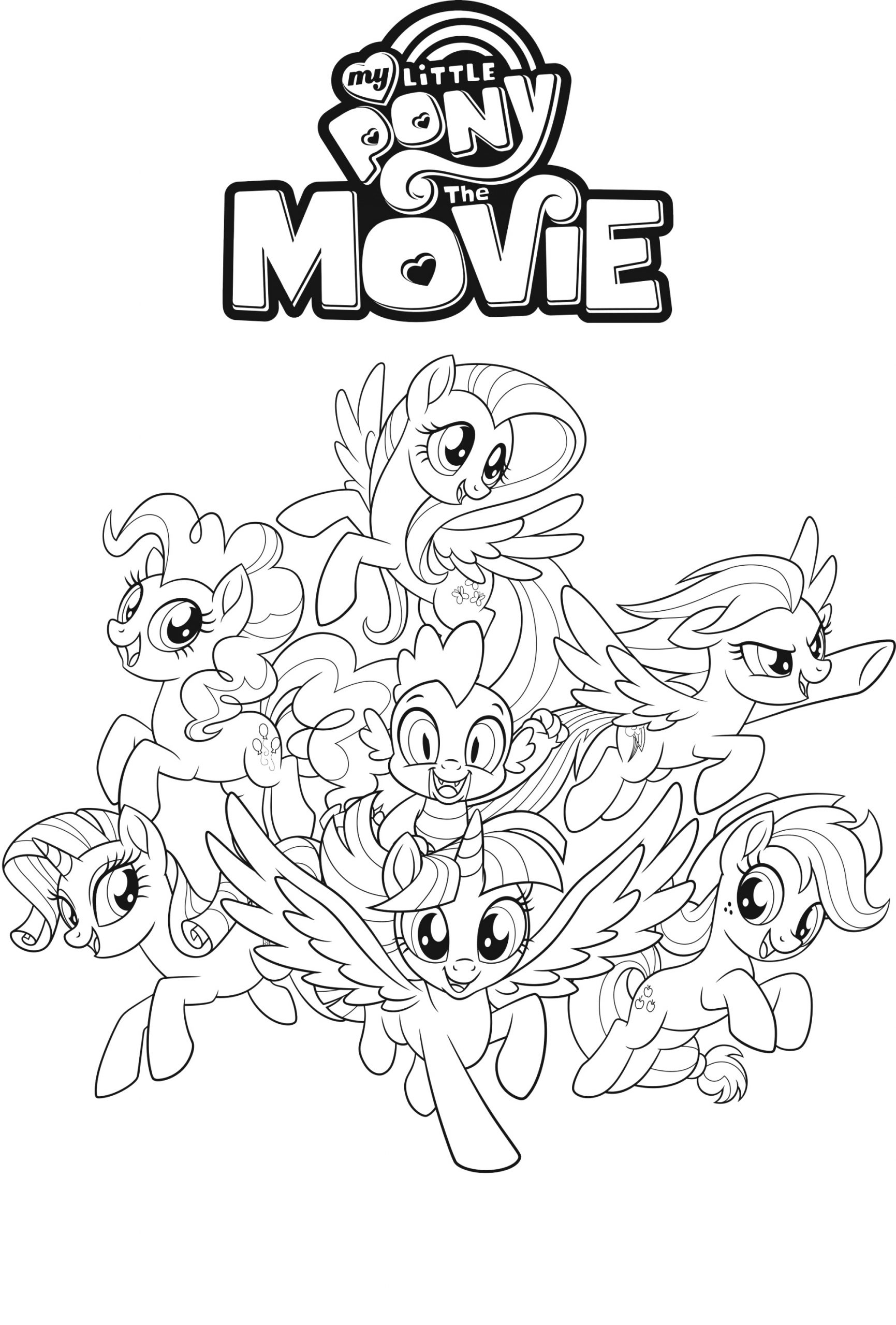top my little pony coloring pages colour and print
