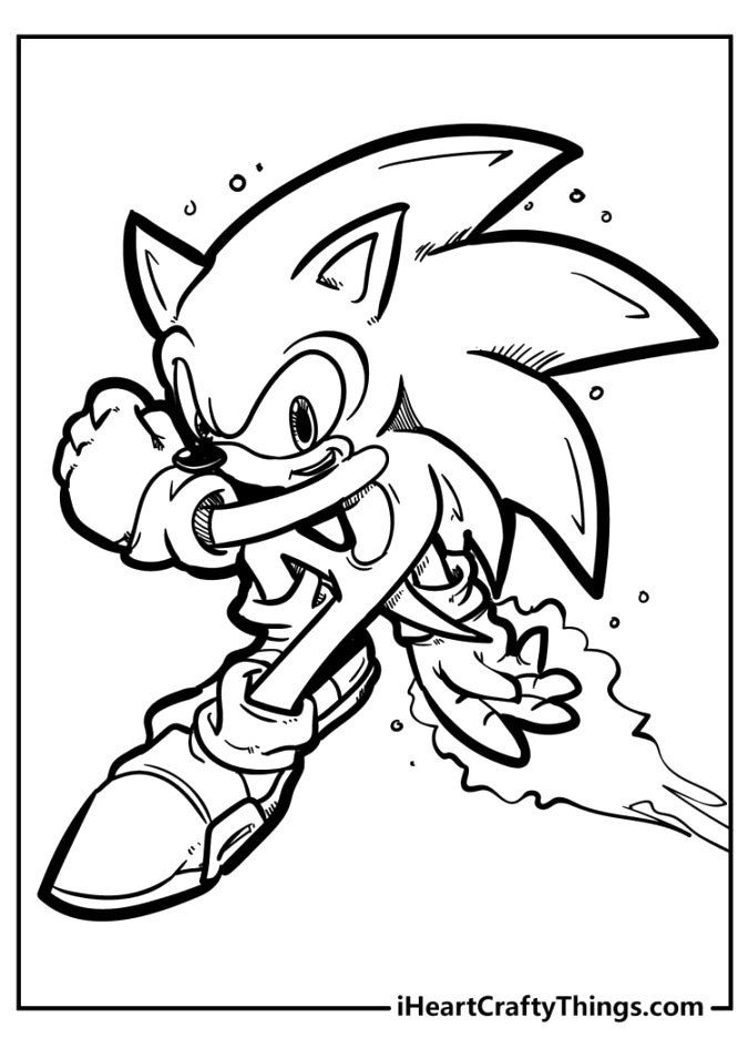 easy sonic the hedgehog coloring pages for kids of all ages