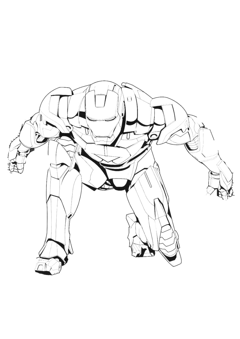 printable iron man coloring pages for children and adults
